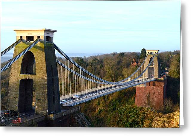 Spanning The Gorge Greeting Card by Bishopston Fine Art