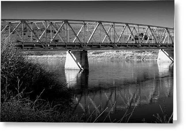Spanning The Missouri  Greeting Card by Roxann Tempel