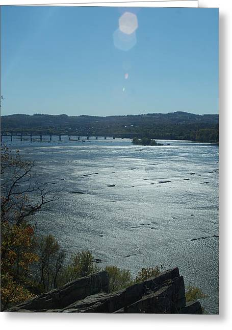 Spanning The Susquehanna  Greeting Card by Rob Luzier