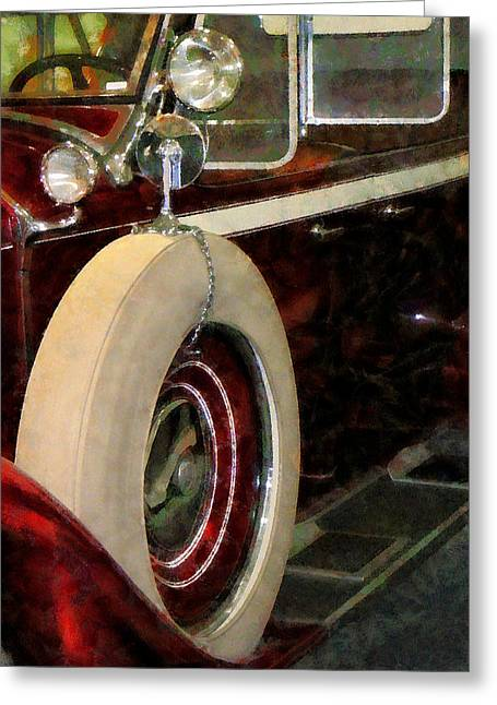 Spare Tire Greeting Card by Susan Savad