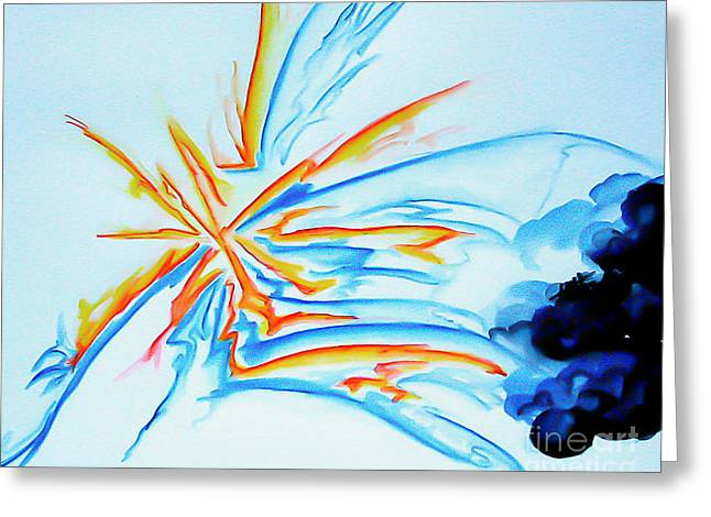 Spark Greeting Card by Heather  Hiland
