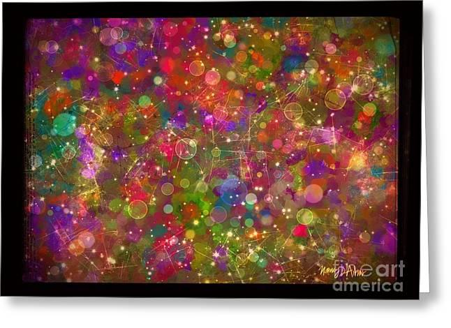 Sparkle Garden Greeting Card by Nancy Aikins