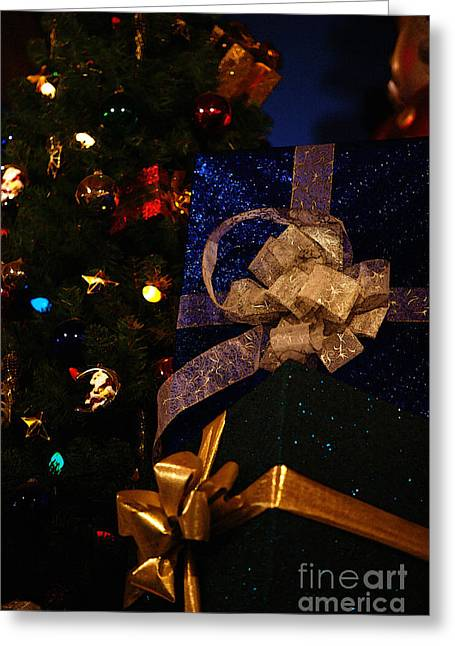 Greeting Card featuring the photograph Sparkle Ribbon And Bows by Linda Shafer