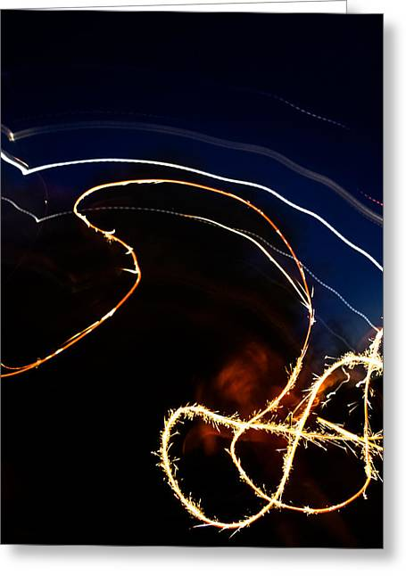 Greeting Card featuring the photograph Sparkler by Joel Loftus