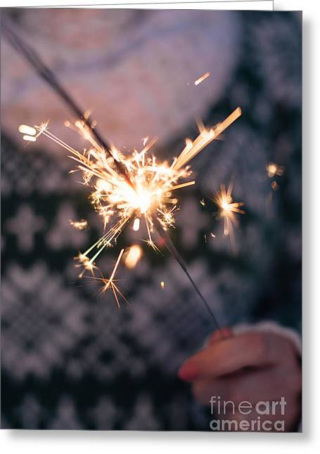 Sparkler  Greeting Card by Viktor Pravdica