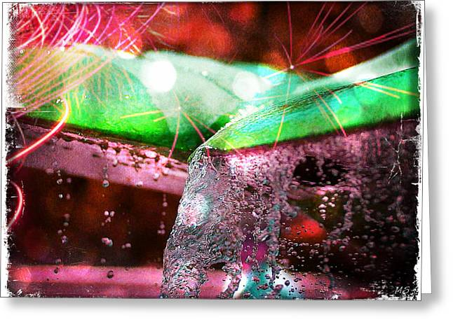 Sparkling Bubbling Water Greeting Card by Absinthe Art By Michelle LeAnn Scott
