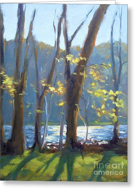 Sparkling Light On The Lake Greeting Card
