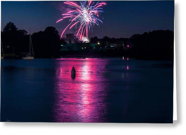 Sparkling Marina Greeting Card by Glenn Feron
