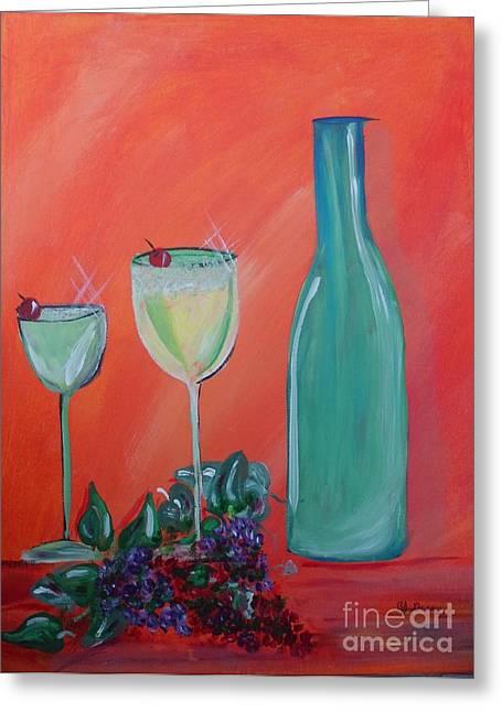 Sparkling Wine Glasses  Greeting Card by Bobbi Groves
