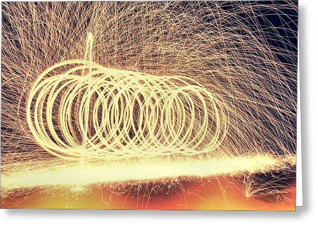 Sparks Greeting Card by Dan Sproul