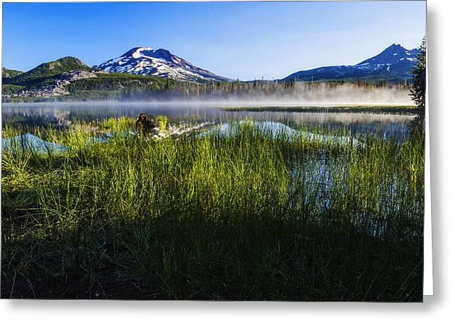 Sparks Lake Oregon Usa Greeting Card by Vishwanath Bhat