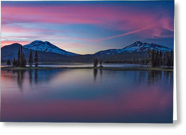 Sparks Lake Reflections Greeting Card