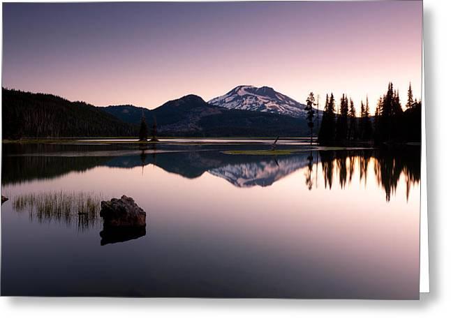 Sparks Lake Sunrise Greeting Card