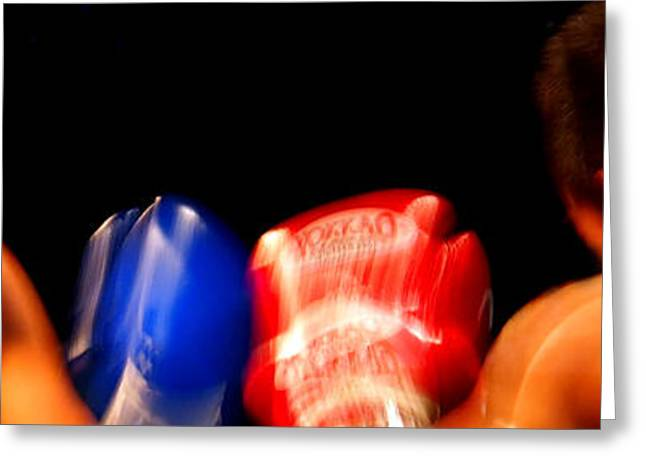 Sparring Greeting Card by Kaleidoscopik Photography