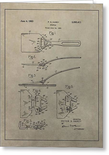 Spatula Patent Illustration Greeting Card by Dan Sproul