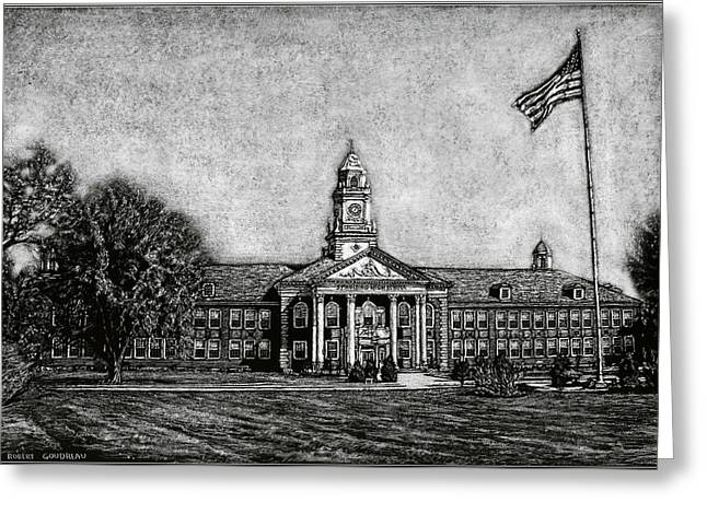 Spaulding High School - Rochester Nh Greeting Card by Robert Goudreau