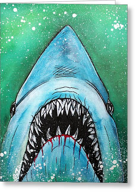 Spawn Of Jaws Greeting Card by Laura Barbosa