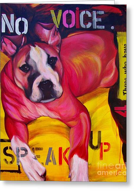 Speak Up Greeting Card