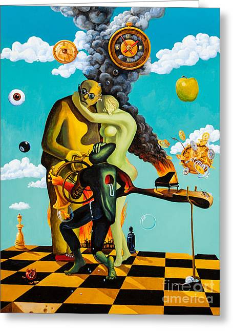 Speaking About Dali Greeting Card by Igor Postash