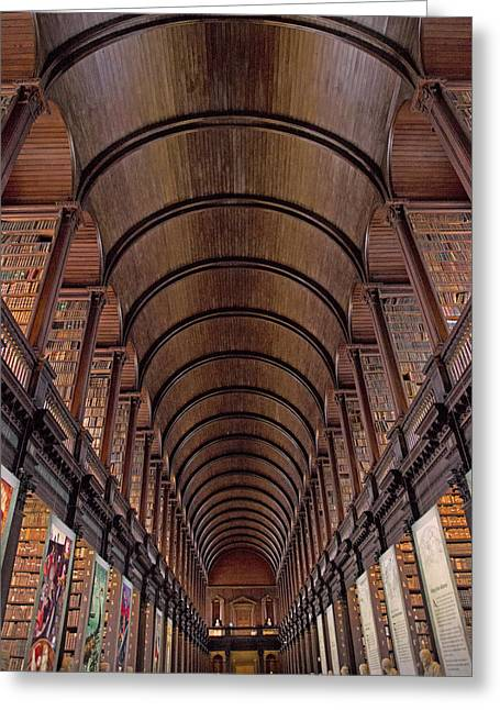 Speaking Shelves Of Trinity College Greeting Card