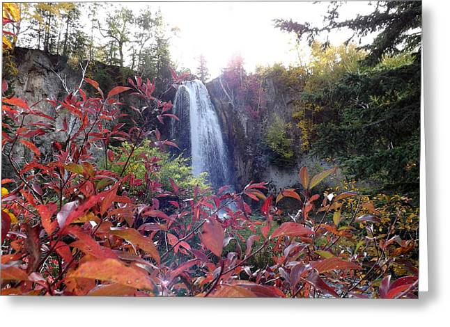 Spearfish Falls Greeting Card