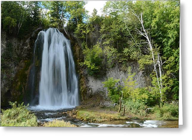 Spearfish Falls In Early September Greeting Card