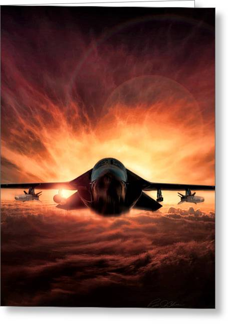 Special Delivery F-111 V2 Greeting Card by Peter Chilelli