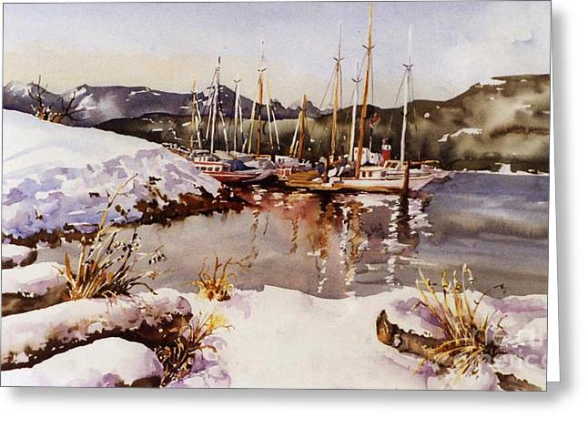Special Winter In Vancouver Greeting Card by Marta Styk