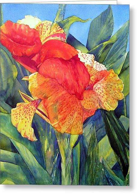 Speckled Canna Greeting Card