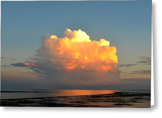 Spectacular Cloud In Sunset Sky Greeting Card