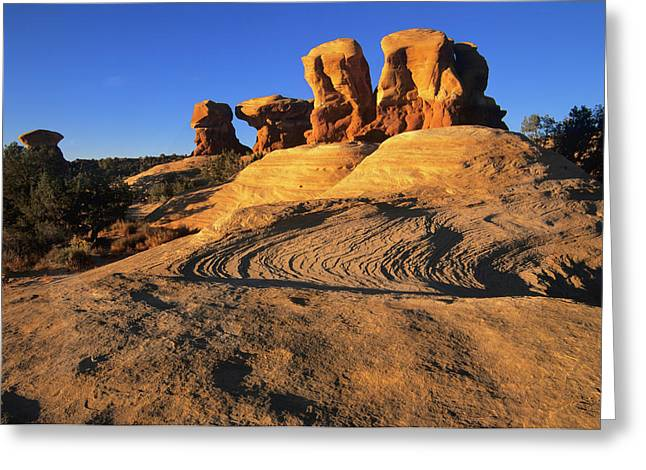 Spectacular Hoodoos In Devil's Garden Greeting Card by Jerry Ginsberg