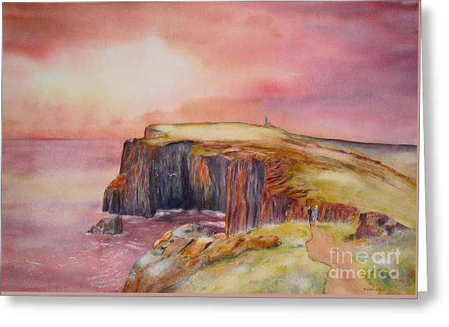 Spectacular On The Isle Of May Scotland Greeting Card