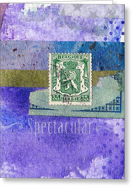 Spectacular Greeting Card by Patricia Wiggin - Wiggelhevin