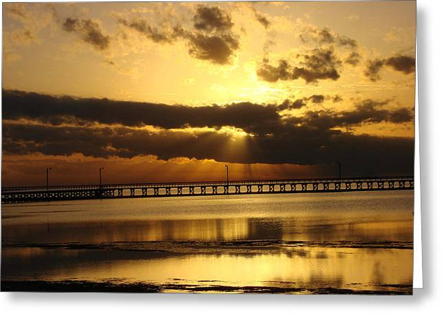 Greeting Card featuring the photograph Spectacular Sunrise Two by Linda Cox