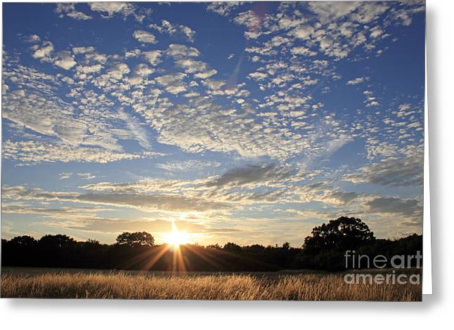 Spectacular Sunset England Greeting Card