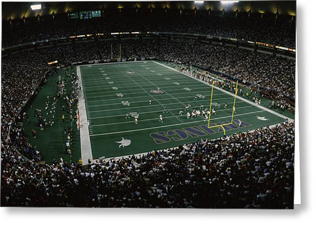 Spectators In An American Football Greeting Card by Panoramic Images