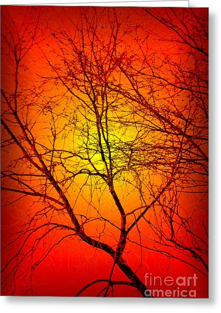 Spectral Sunrise Greeting Card