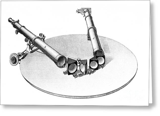 Spectroscope, 1861 Greeting Card