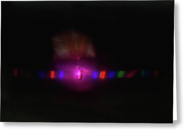 Spectrum Of Light Caused By Light Greeting Card by Dorling Kindersley/uig