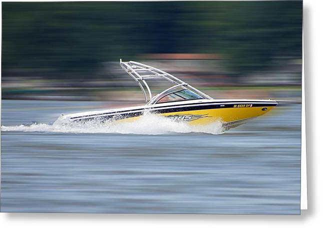 Speed Boat Greeting Card by Thomas Fouch