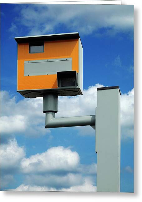 Speed Camera Greeting Card by Mark Sykes