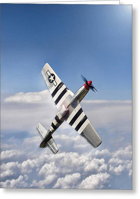 Speed Climb P-51 Greeting Card