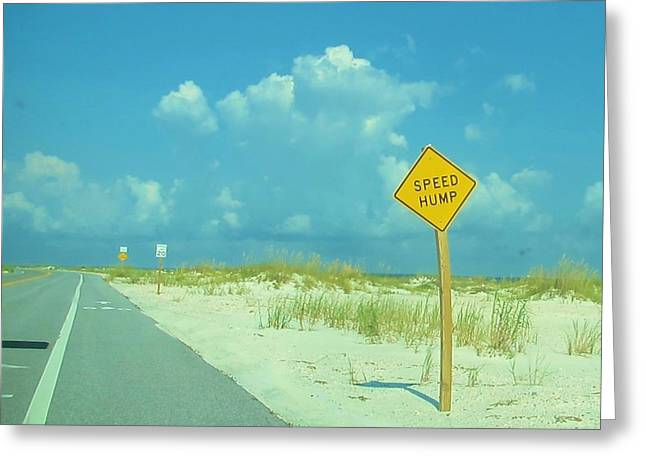 Speed Hump Greeting Card