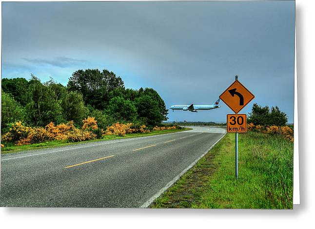 Speed Limit 30 Km/h-be Careful Where You Land Greeting Card by Eti Reid