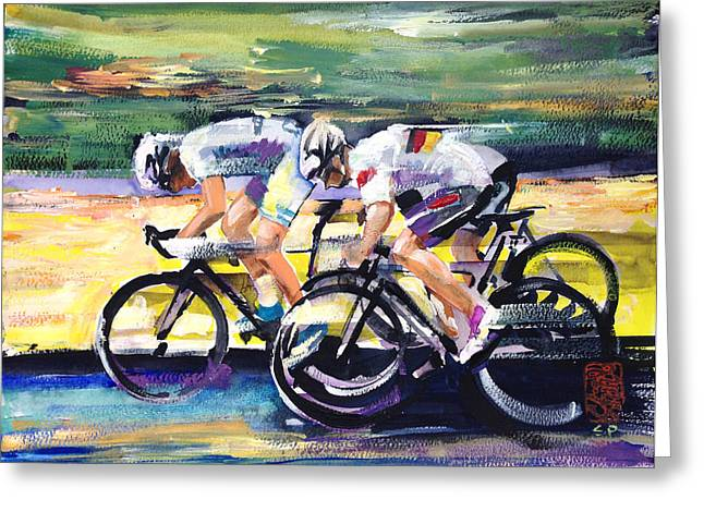Speed Of Light Greeting Card by Shirley  Peters