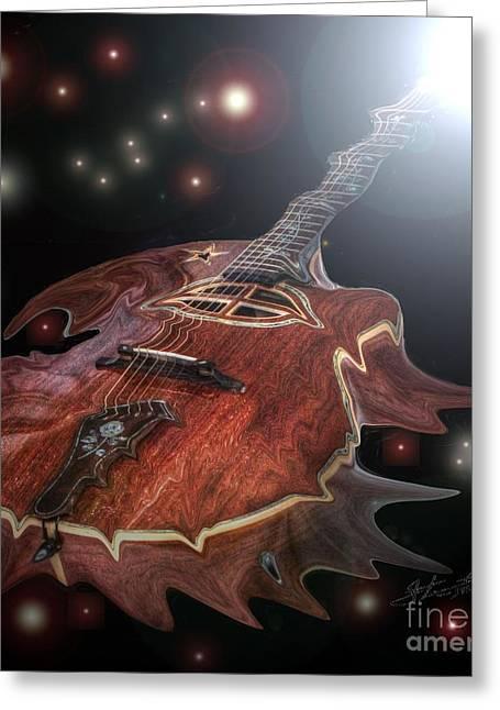 Speed Of Sound Digital Guitar Art By Steven Langston Greeting Card by Steven Lebron Langston