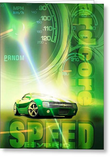 Speed Greeting Card by Pierre Chamblin