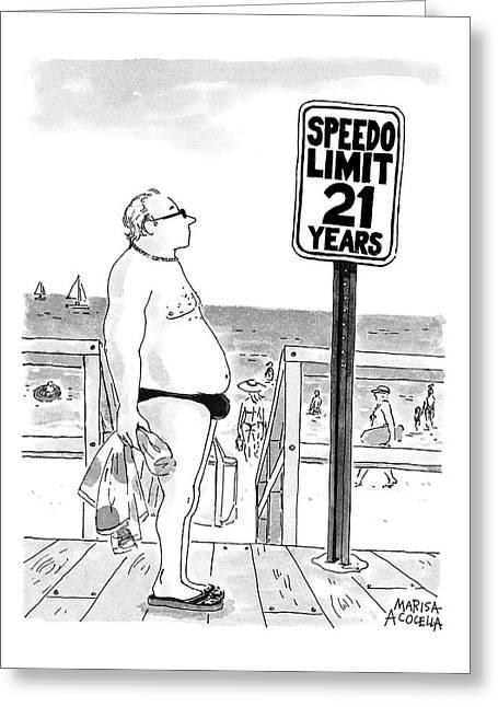 Speedo Limit  21 Years Greeting Card