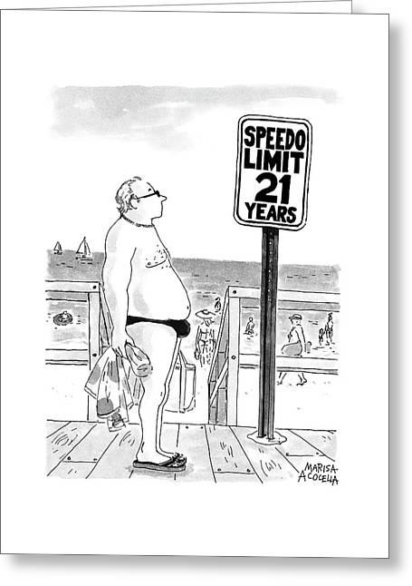 Speedo Limit: 21 Years Greeting Card