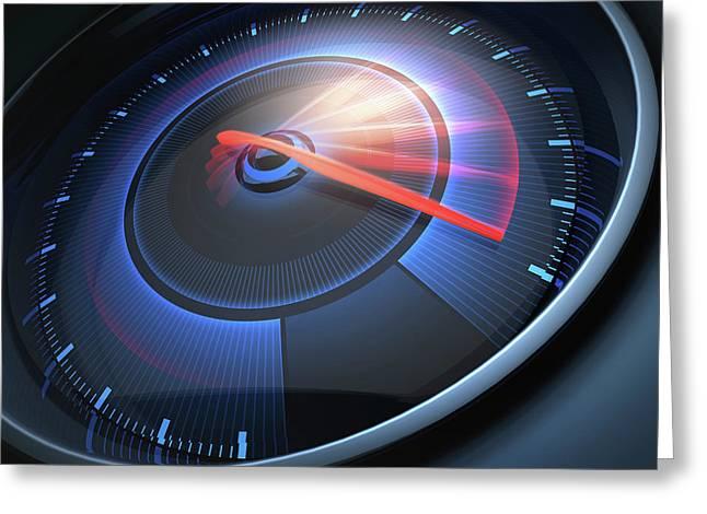Speedometer Greeting Card by Ktsdesign